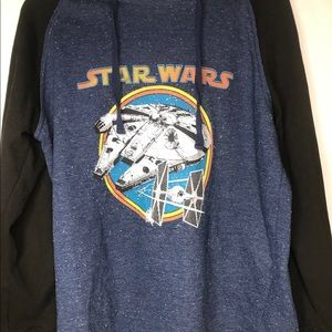 Star Wars heather blue Disney hoodie sweatshirt M